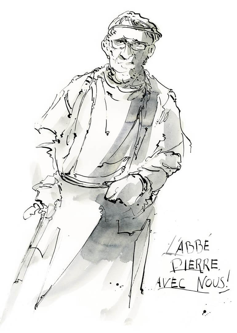 L'abbé Pierre avec nous