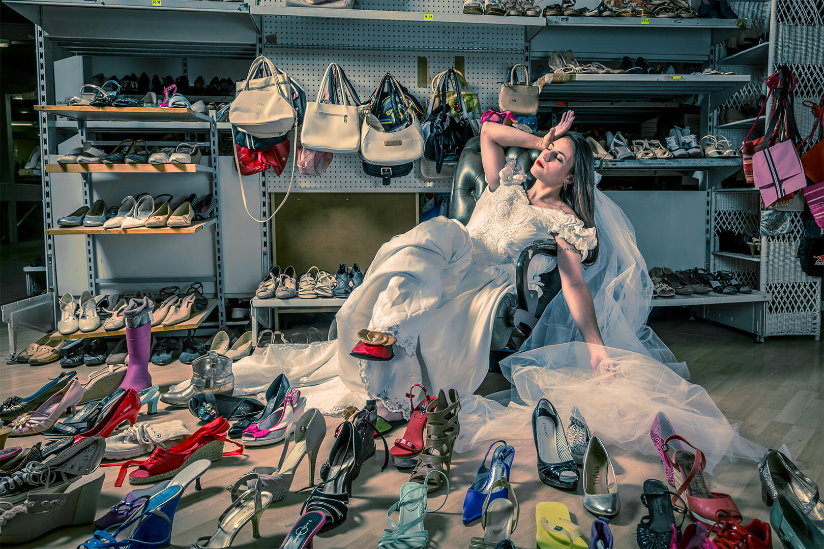 Mariée cherche chaussure à son pied